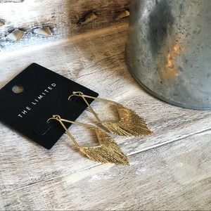 NWT The Limited Gold Fringe Earrings